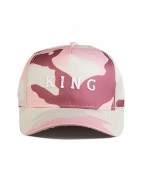 KING Apparel Aldgate Curve Peak cap - Blush Camo