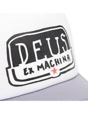 DEUS Kappe Yeeha Trucker - white grey