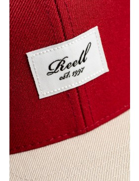 Reell 6 panel Pitchout snapback Dark Grey-Red