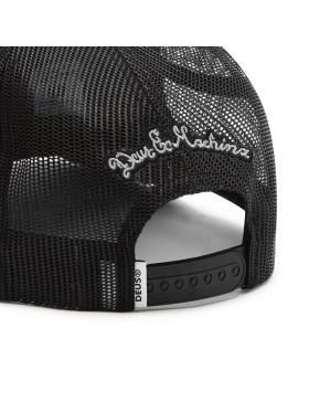 DEUS Piston Shield 2 Trucker kappe - Schwarz/Weiß