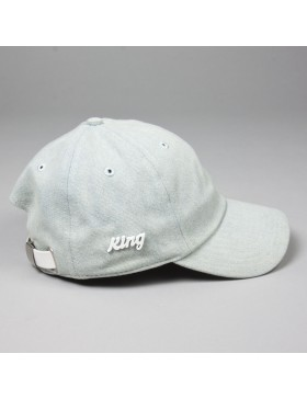 KING Apparel Script - Curved dad cap - blue