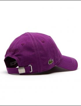 Lacoste Kappe - Gabardine cap - cosak purple