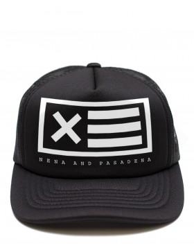 Nena & Pasadena trucker Cap Flag - schwarz