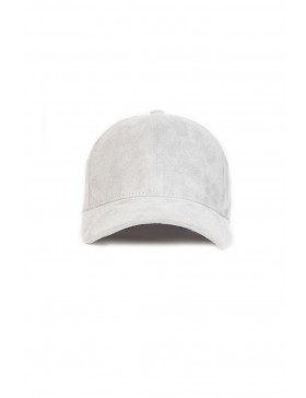 NVLTY London Suede cap Curved - grey