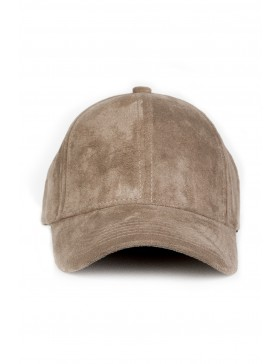 NVLTY London Suede cap Curved - mocha