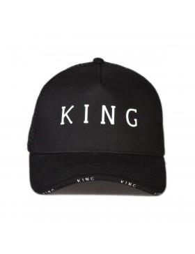 KING Apparel Stepney Curved Trucker cap - Black