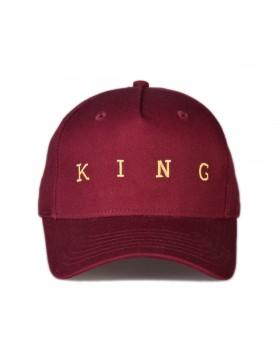 KING Apparel Tennyson Gold Curve Peak cap - Oxblood