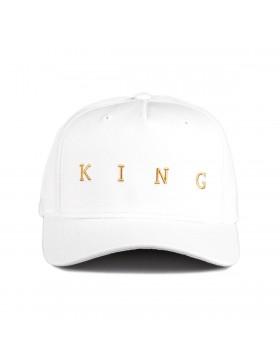 KING Apparel Tennyson Gold Curve Peak cap - White
