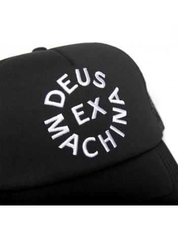 DEUS Trucker kappe Circle logo - black