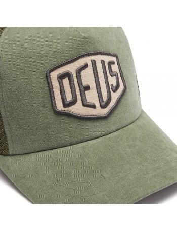 DEUS Trucker Kappe Foxtrot Shield - olive