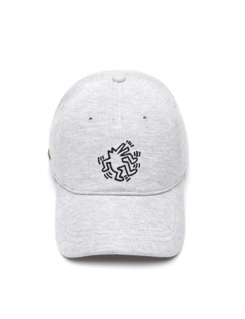 Lacoste Kappe - x Keith Haring - Grau