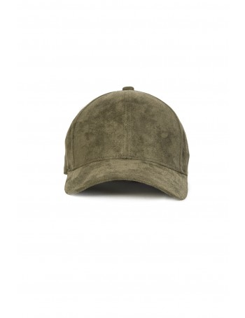 NVLTY London Suede cap Curved - olive