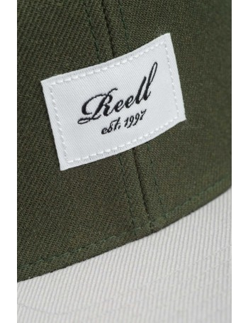 Reell 6 panel Pitchout snapback Olive - light grey