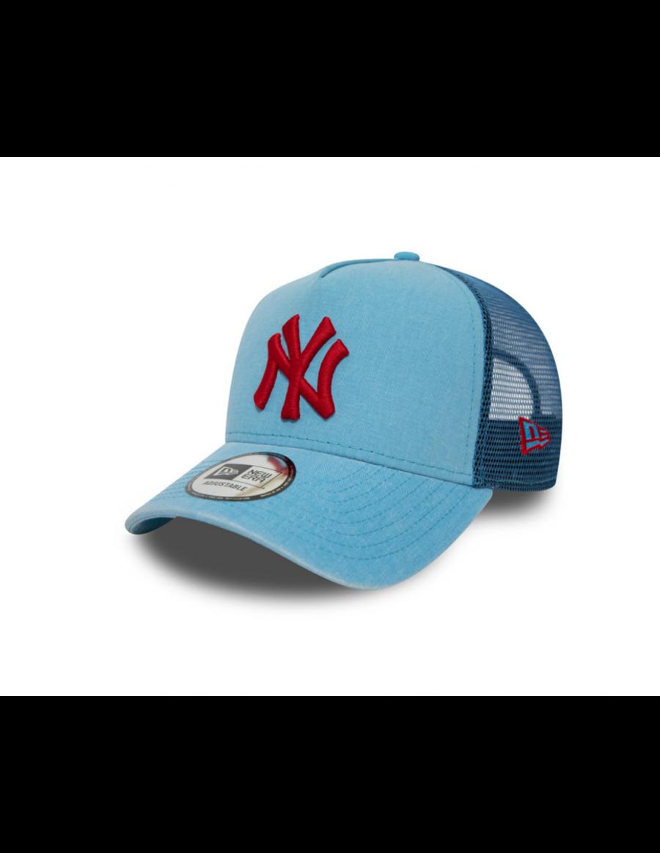 New Era Washed Trucker kappe NY New York Yankees - Blue