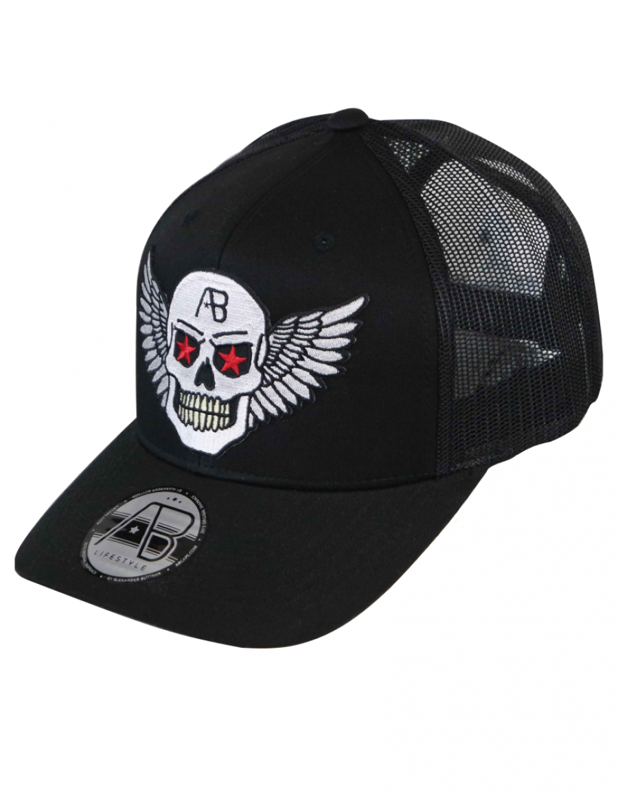 AB kappe Retro Trucker - Airforce black - chrome edition