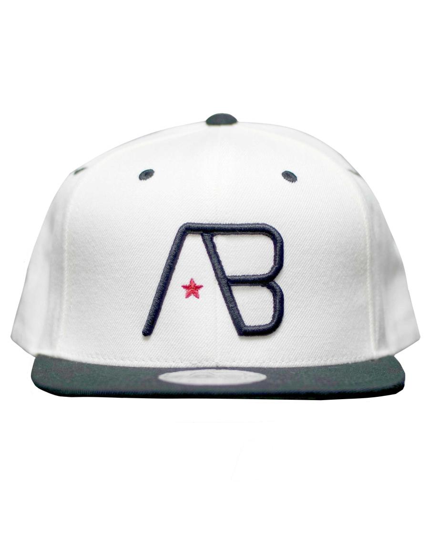 AB cap Snapback - black white - Sale