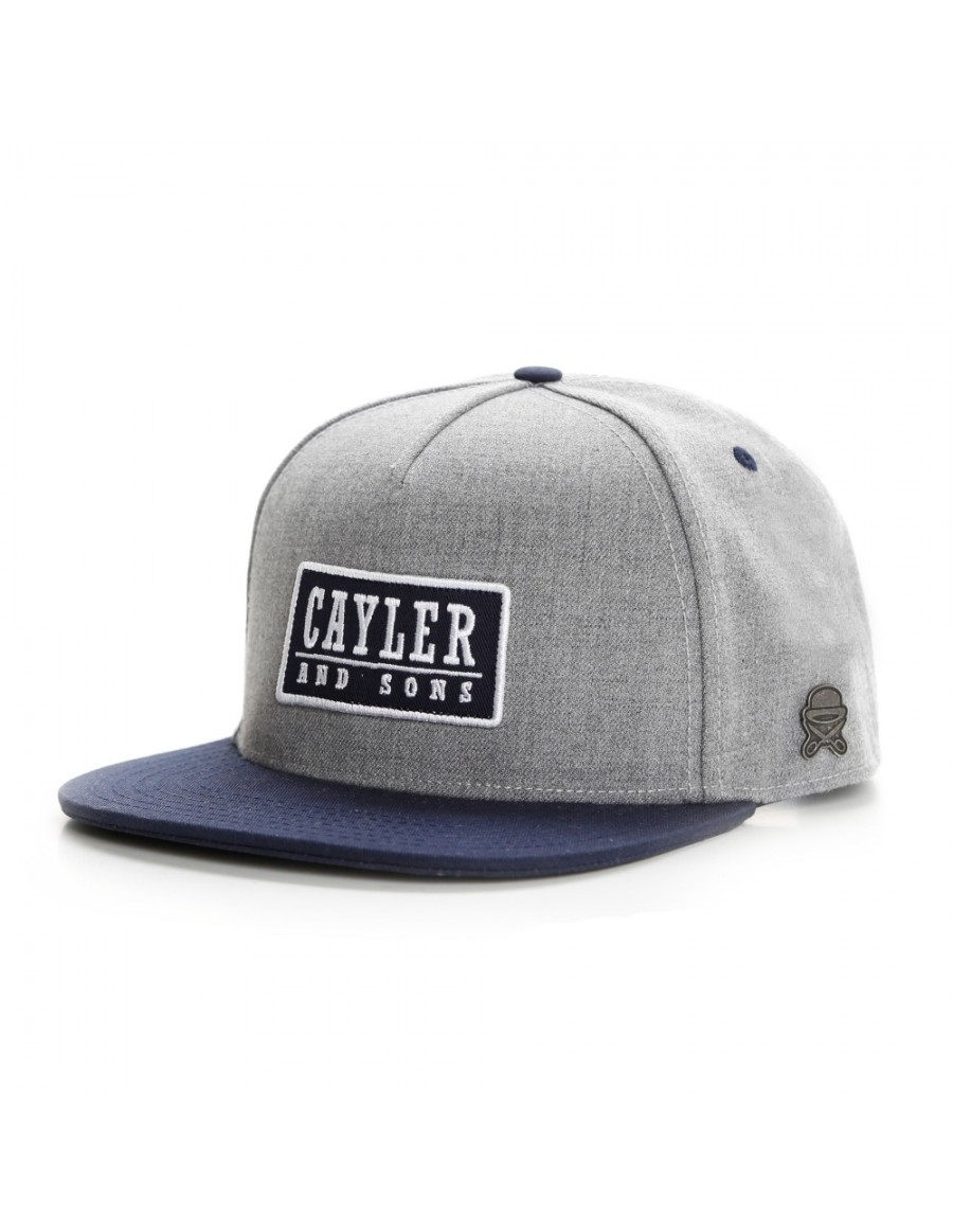 Cayler & Sons Garage snapback cap grey-navy