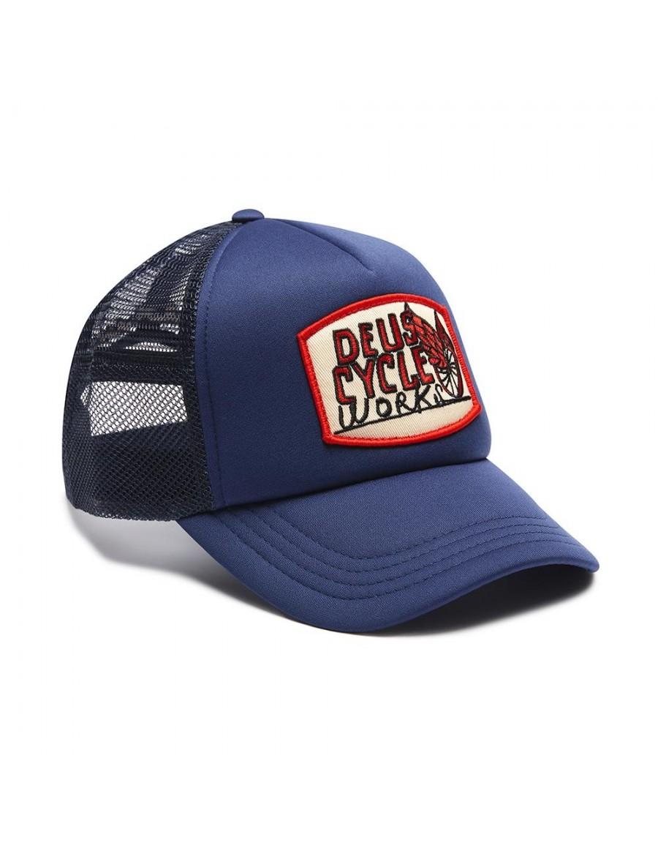 DEUS Come Down Trucker cap - Navy
