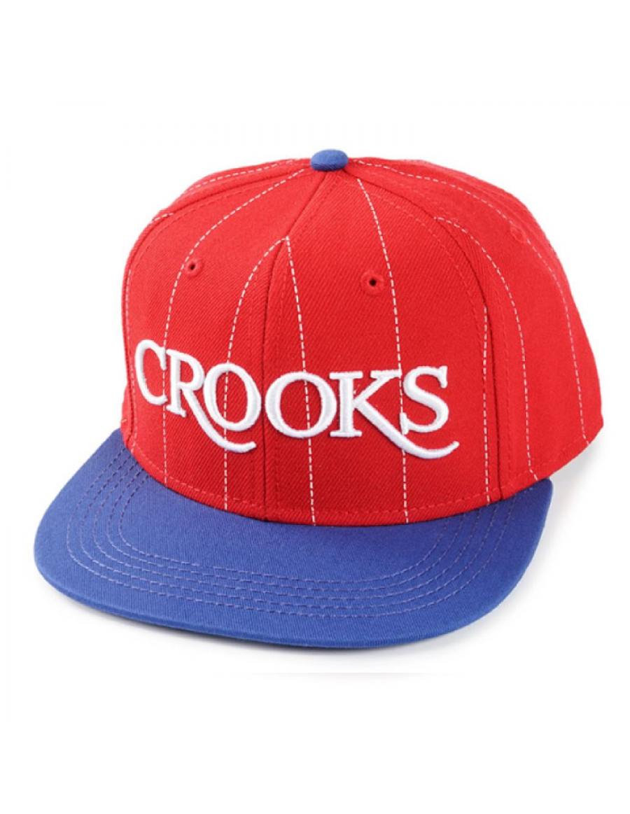Crooks & Castles Serif snapback red-blue