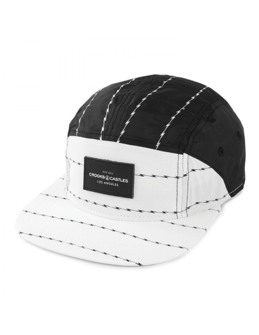 Crooks & Castles Storm 5 panel cap white-black