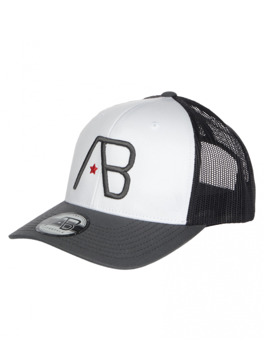 AB cap Retro Trucker - Grey / White