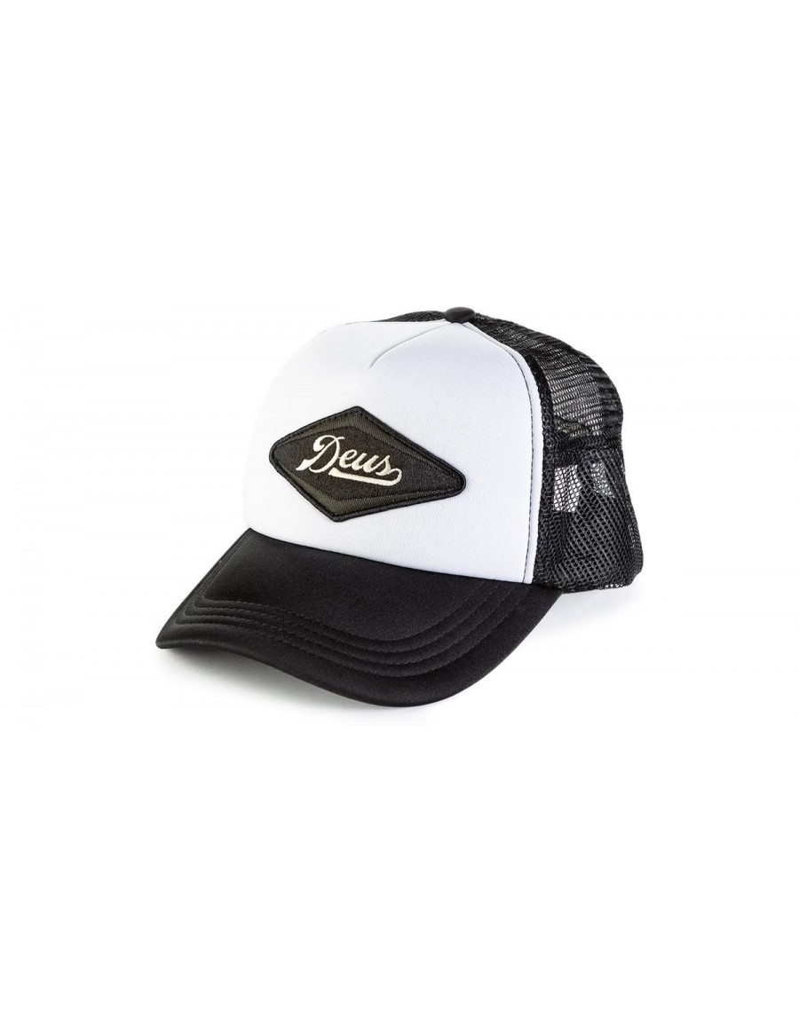 DEUS Diamond trucker cap - black white