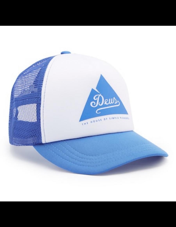 DEUS Peak Trucker cap - Cobalt