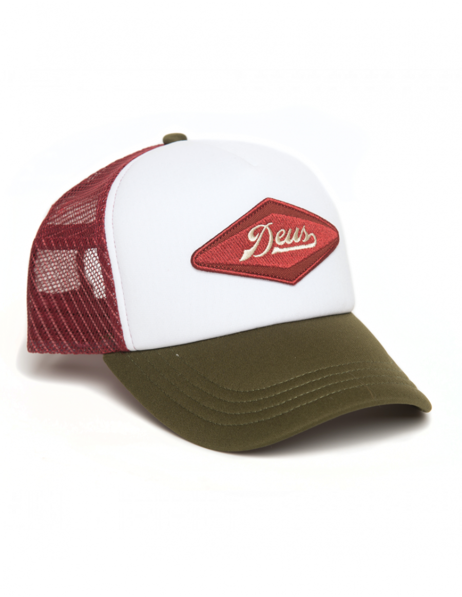 DEUS Kappe Diamond Trucker - olive