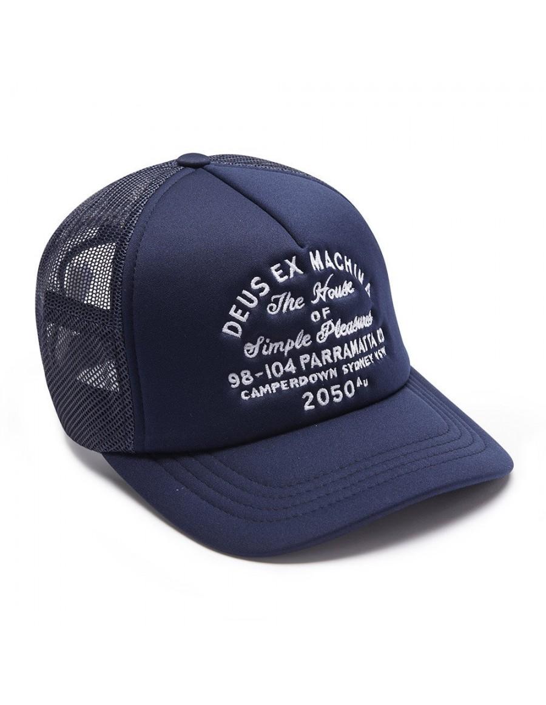 DEUS Kappe Trucker Camperdown Address - navy