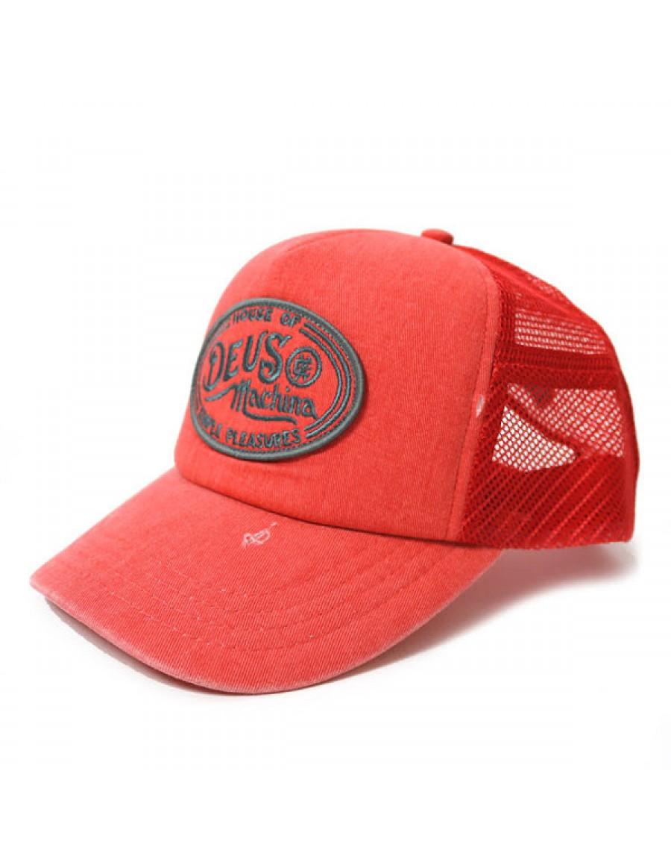 DEUS Kappe Trucker Charlie - washed red