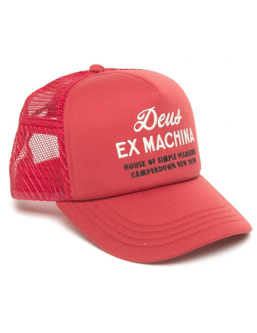 DEUS Kappe Trucker House - red