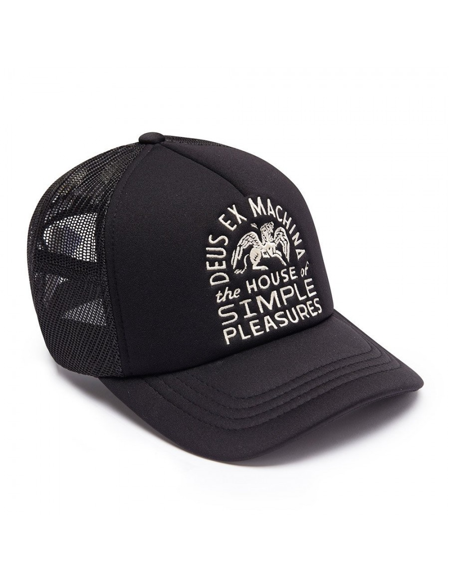 DEUS Kappe Trucker HOUSE Pegasus - black