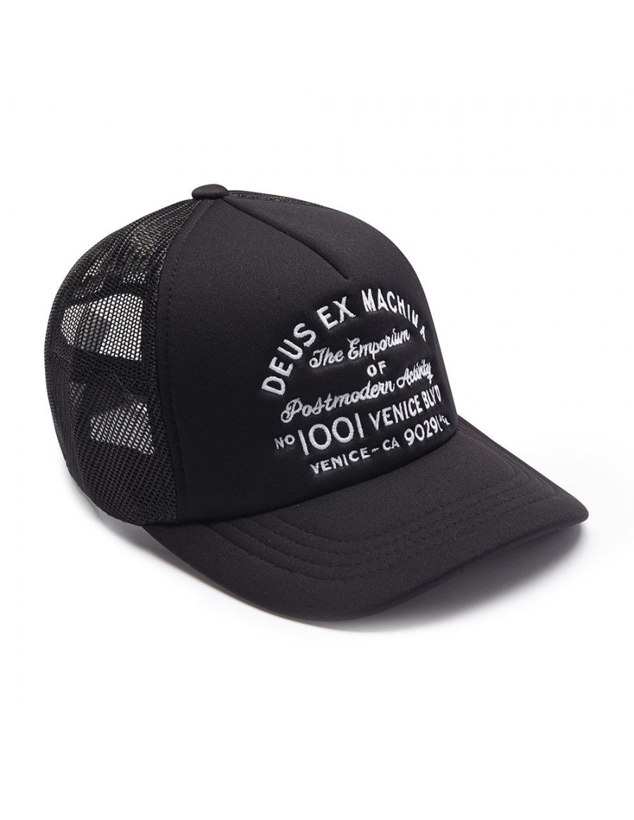 DEUS Kappe Trucker LA Address - black