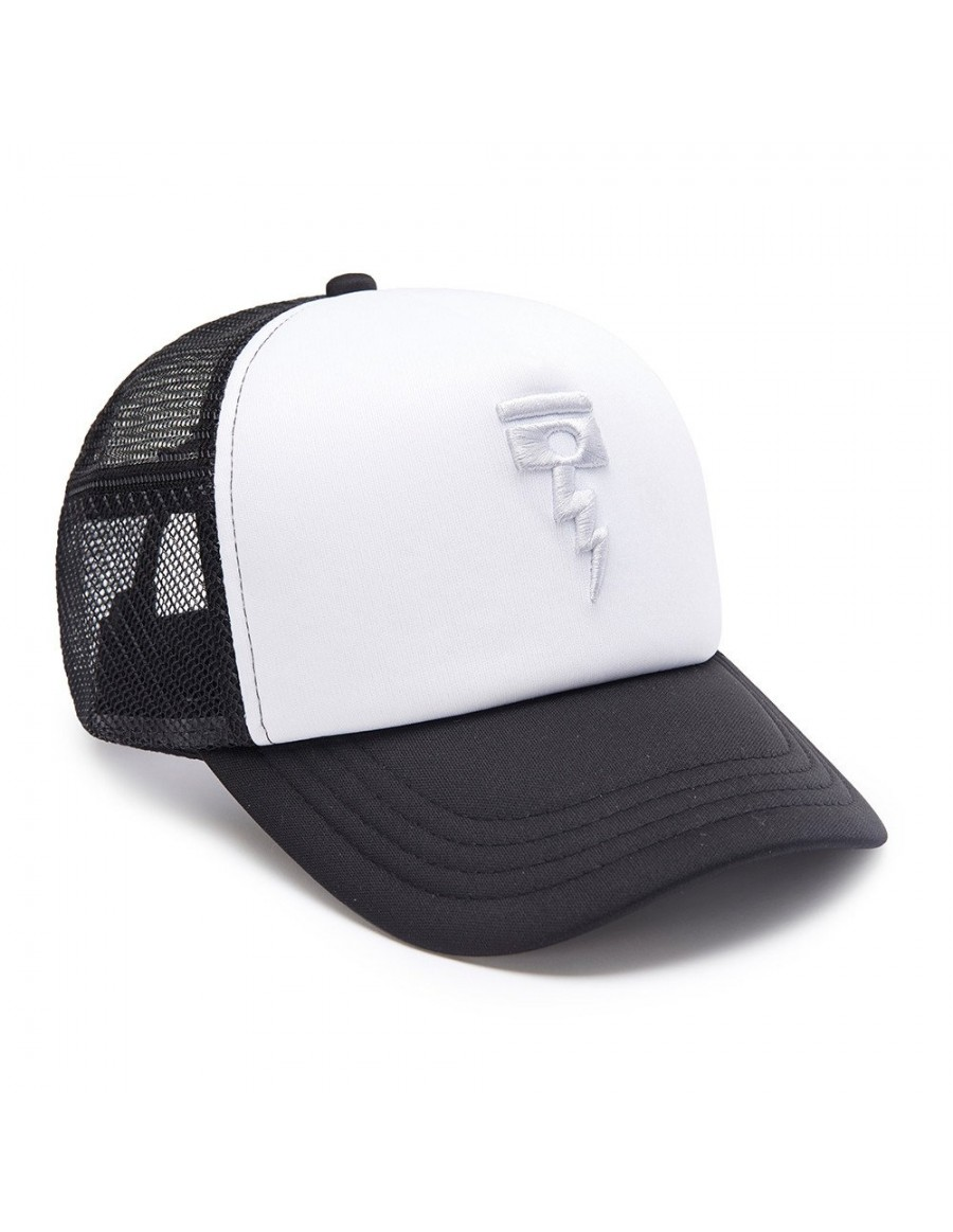 DEUS Kappe Trucker November - black white