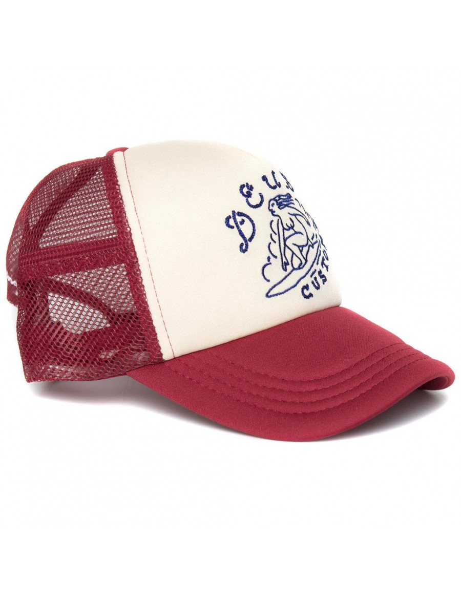 DEUS Pet Trucker Surf Girl - red