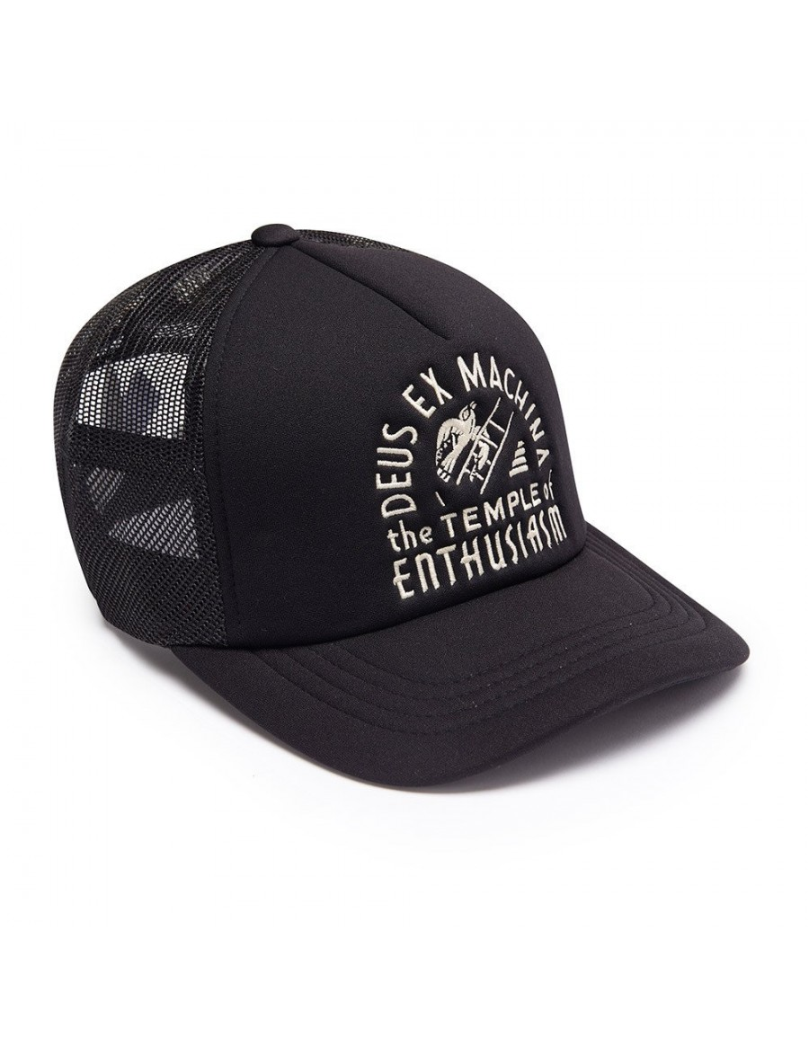DEUS Kappe Trucker TEMPLE - black