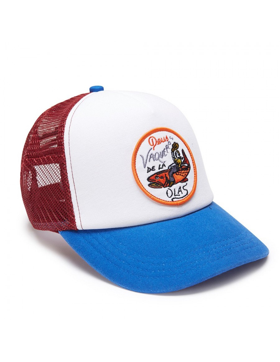 DEUS Kappe Trucker Vaqueros - blue red
