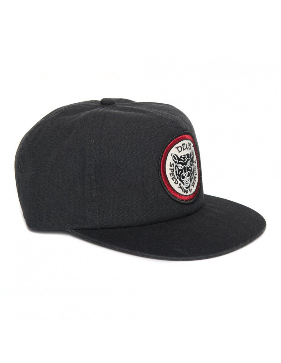 DEUS Tiger Head Snapback cap - black