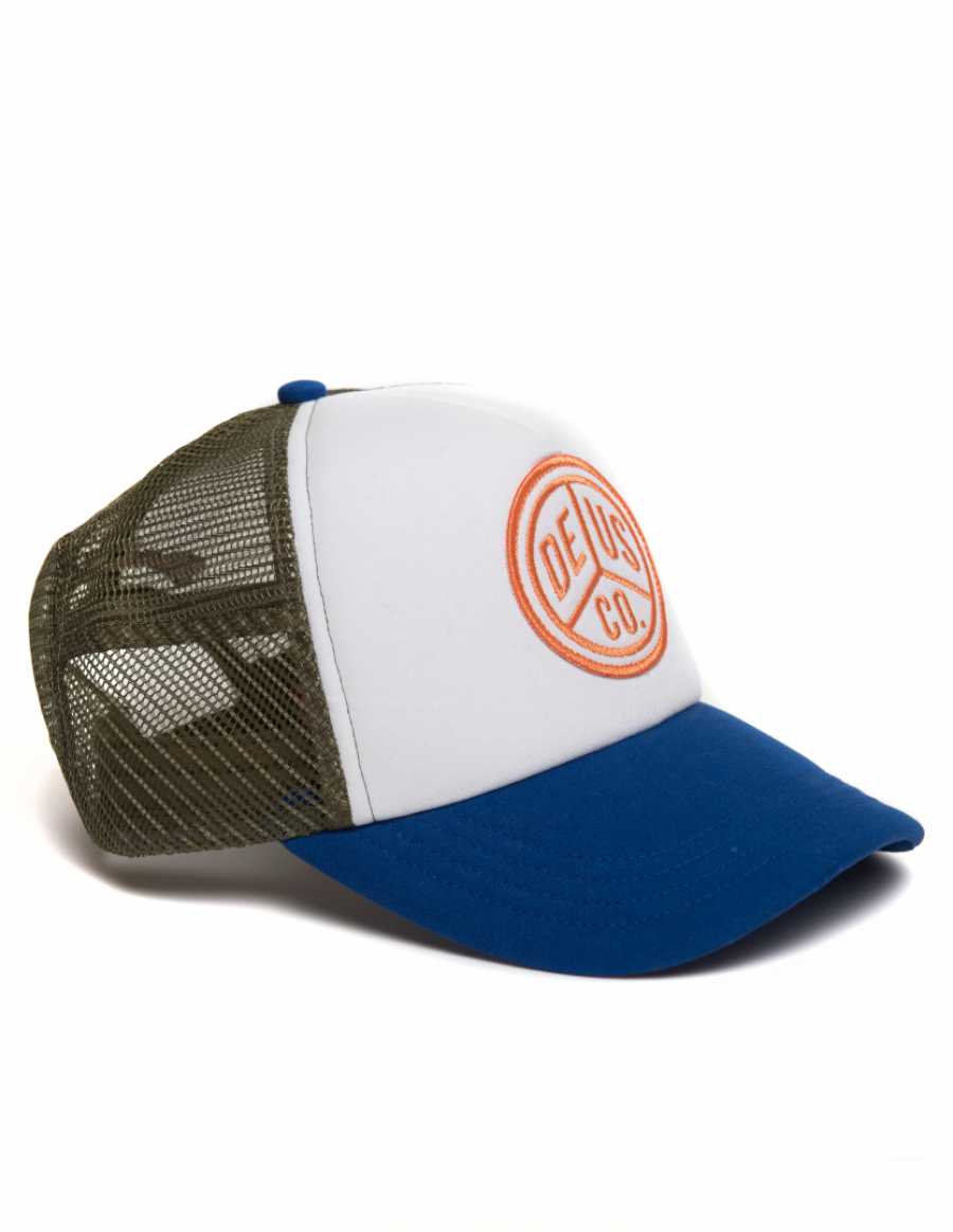 DEUS Trucker cap Peace - olive blue