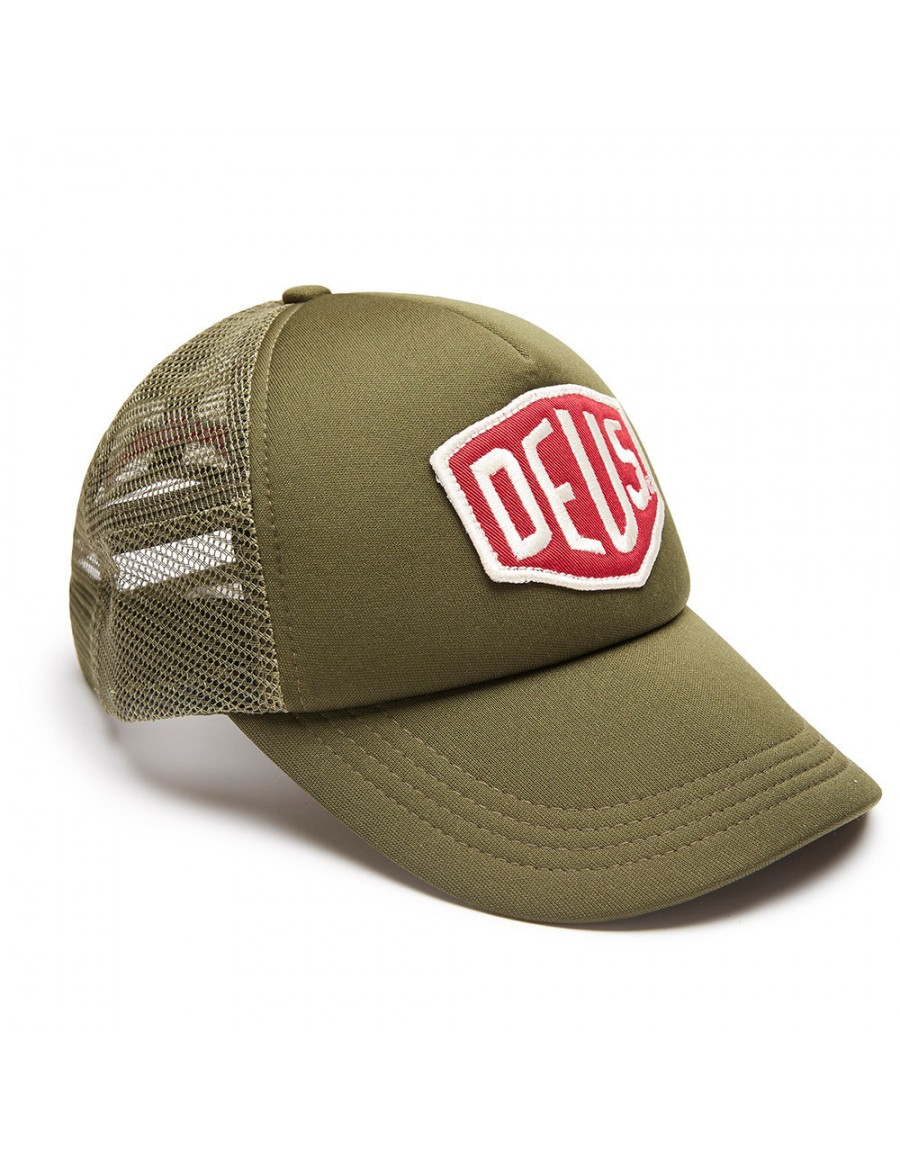 DEUS Trucker Kappe Colour Shield - khaki