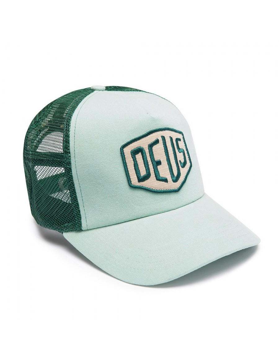 DEUS Trucker Kappe Foxtrot Shield - mint