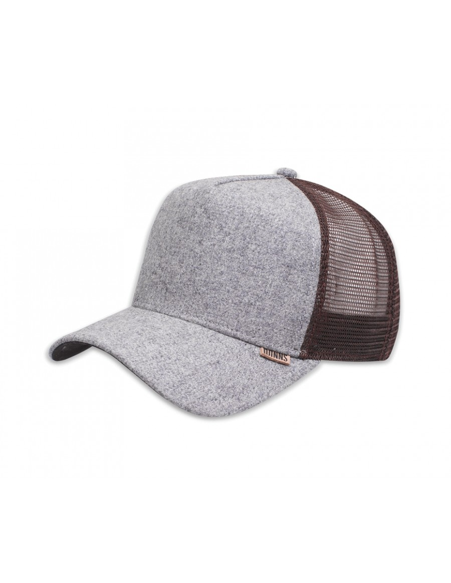Djinn's HFT Rhomb Trucker Cap brown grey