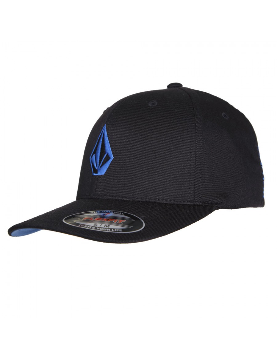 Volcom Full stone flexfit hat black & blue