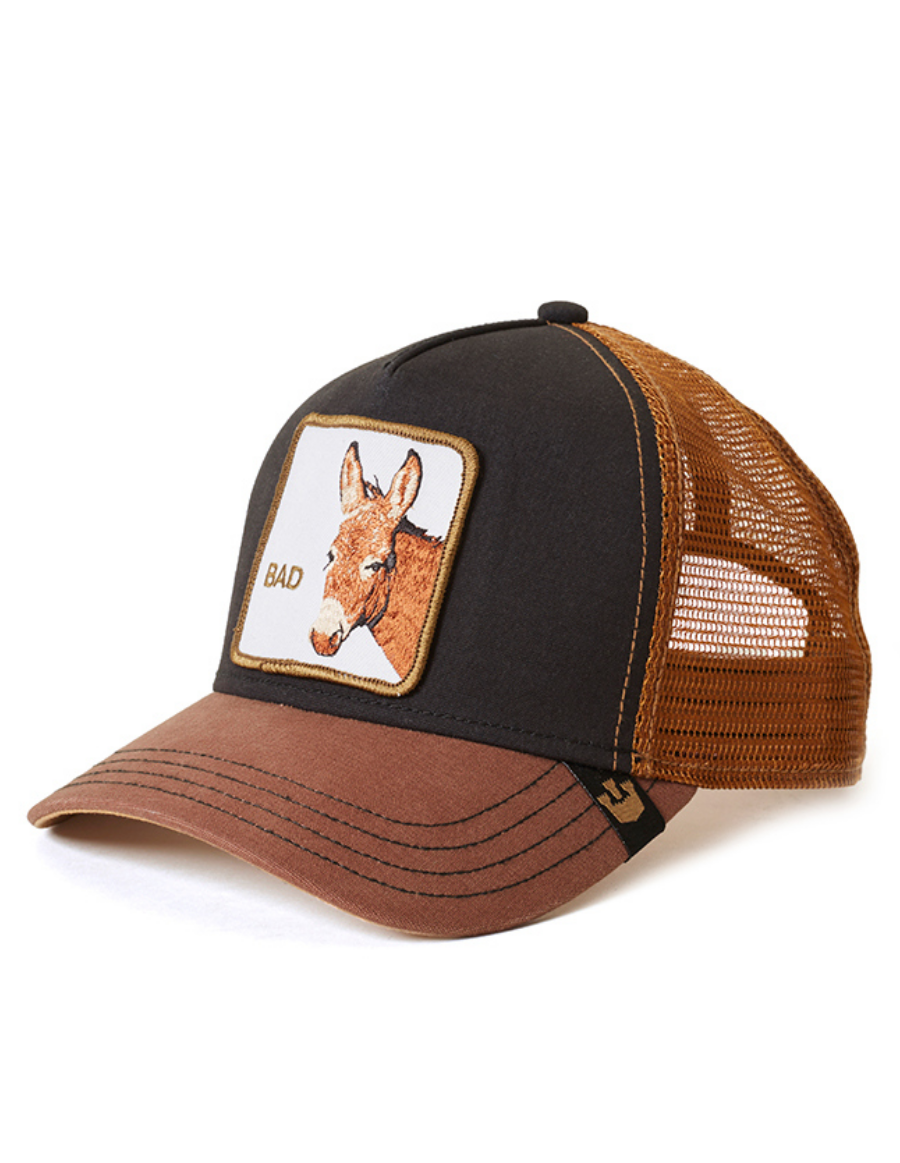 Goorin Bros. Bad Ass Trucker cap -  Black Brown