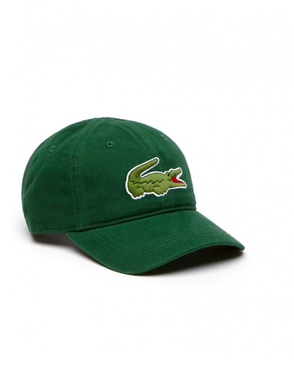 Lacoste Kappe - Big Croc Gabardine - Green