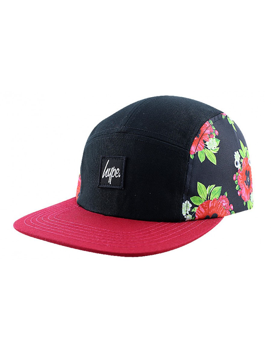 HYPE 5 panel Black Poppy Strapback - Sale
