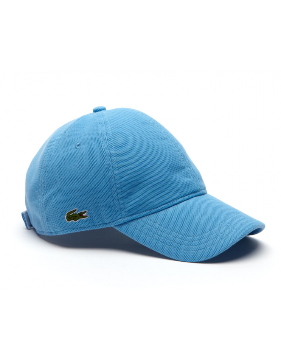 Lacoste Kappe - cotton pique - thermes blue