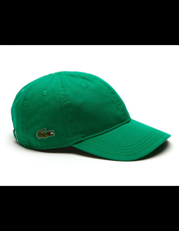 Lacoste Kappe - Gabardine cap - yucca green