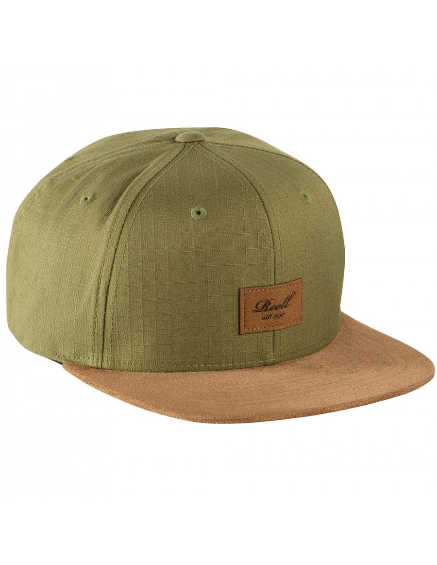 Reell 6 panel Suede cap Snapback Military Olive