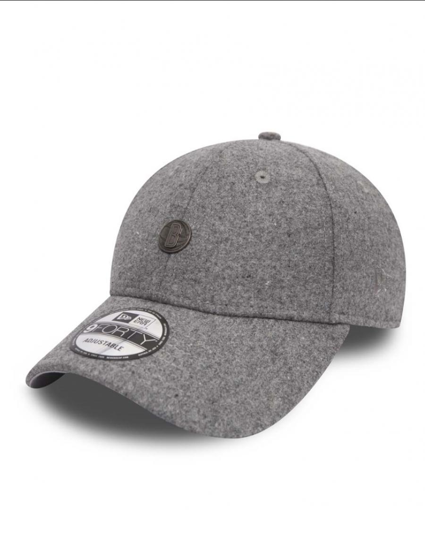 New Era 9Forty Pin Badge (940) Brooklyn Nets Grey